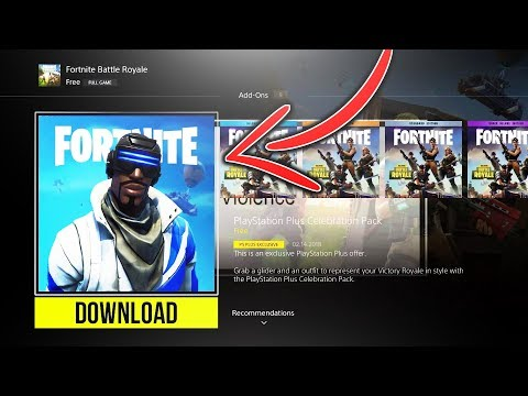 "How To Get NEW PLAYSTATION PLUS SKIN For FREE In Fortnite! ""NEW FREE PSN PLUS SKIN!"" PS4 PLUS SKIN!"