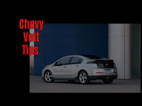 Chevy Volt Pro Tips