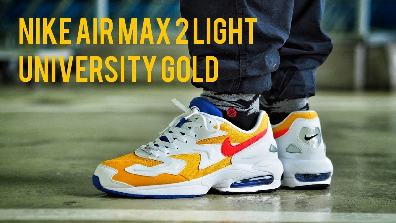 2e145af4f8 Air Maxed Out: Nike Air Max 2 Light University Gold Review & On Feet ...