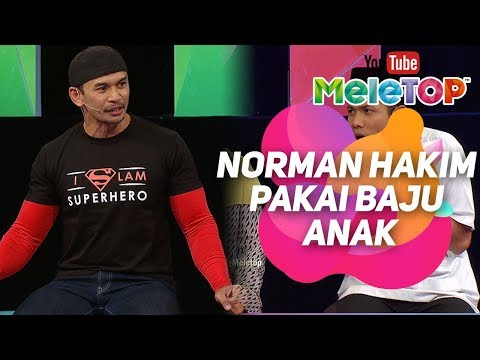 Norman Hakim pakai baju anak datang MeleTOP | World Quran Hour | Raqib Majid I MeleTOP