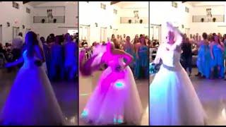 Novia que padece cáncer sorprende lanzando peluca en su boda | 90 Central