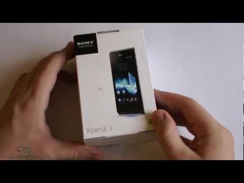 Распаковка Sony Xperia J (unboxing)