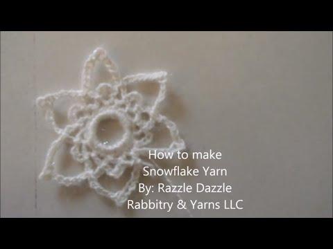 Snowflake yarn tutorial