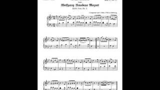 Mozart -  Allegro in B flat Major, KV 3