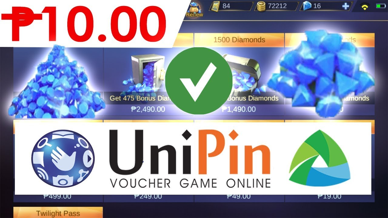 how to buy diamonds in mobile legends using unipin - as low as 10 pesos