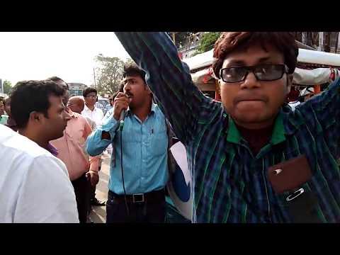Strike Siliguri More for justice Teacher Presiding officer Rajkumar Ray Murder, West Bengal election