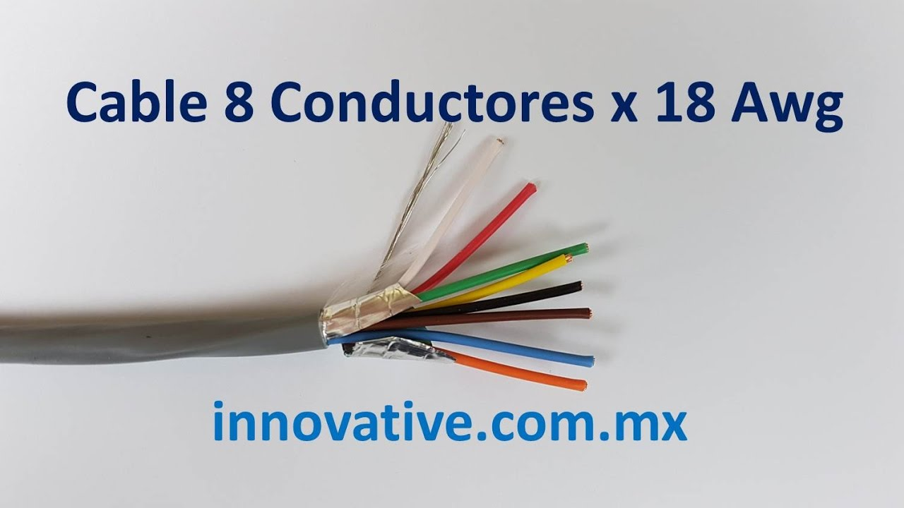 Cable 8 Conductores x 18 AWG - YouTube