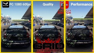 GRID AutoSport Nintendo Switch VS PC (Graphics) (Performance) Mode Gameplay