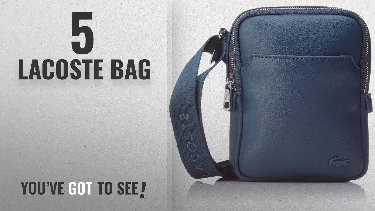 d0b65b24017 Top 10 Lacoste Bag [2018]: Lacoste Men's Gael Top-handle Bag - YouTube