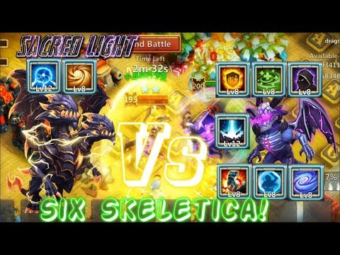 Sacred Light Demogorgon Vs 6 Skeletica Talents - Castle Clash