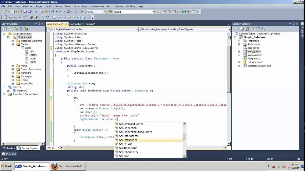 How To Load Data From Database To Combo Box In C# NET