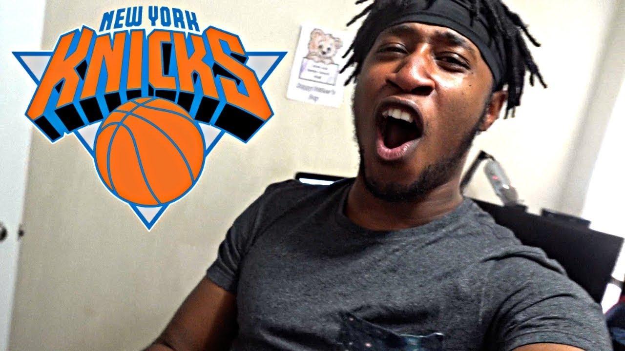 736c99914 CRAZY KNICKS FAN REACTION TO THEM DRAFTING KEVIN KNOX! 2018 NBA ...