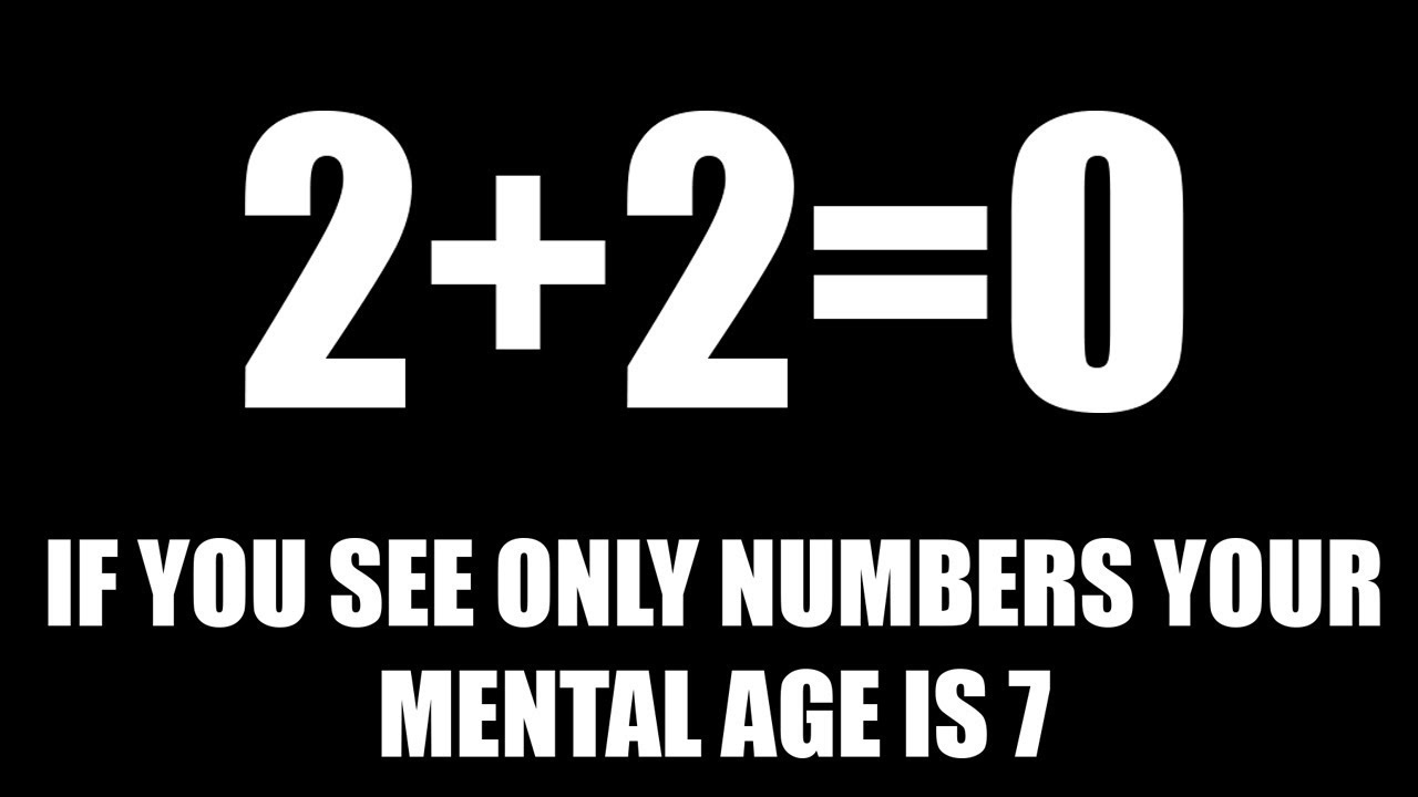 WHAT IS YOUR MENTAL AGE? (TEST) Are You a Man-Child or a Kid-Genius?