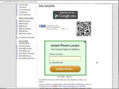 How to Send Free SMS to El Salvador