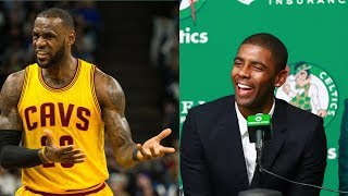 Kyrie Irving Takes Final Jab at LeBron James During Celtics Introductory Press Conference