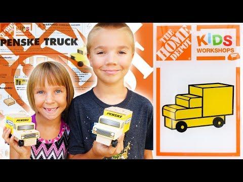 Home Depot Kids Workshop Build - Penske Truck (Vlog 8/7/2017)