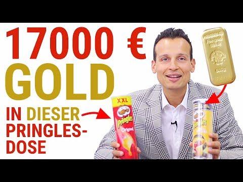 17.000 EUR GOLD in einer Dose PRINGLES