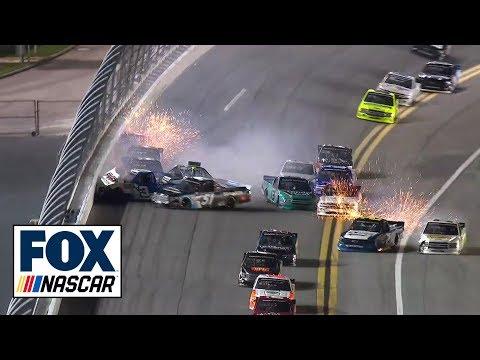 The Big One Collects 11 Trucks In Massive Daytona Wreck | FOX NASCAR