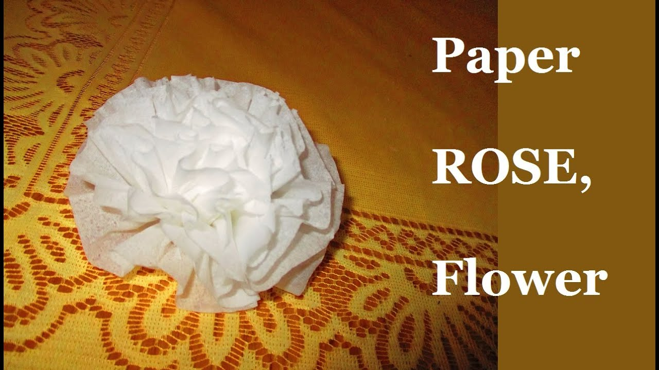 How To Make Child Easy Tissue Paper Rose Flower For Beginners Step