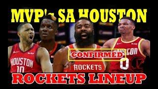 DALAWANG MVP sa Houston ROCKETS LINEUP | Russell WESTBROOK | James HARDEN | KUMPIRMADO NA