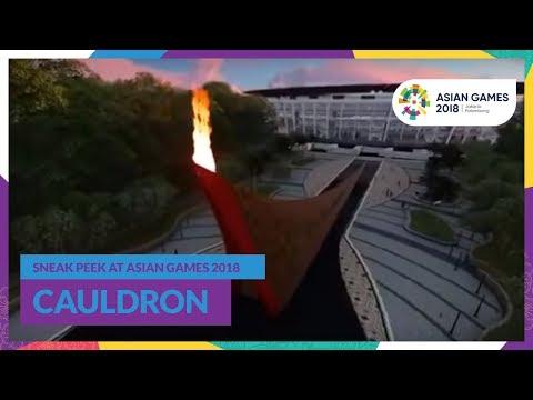 Sneak Peek At Asian Games 2018 Cauldron