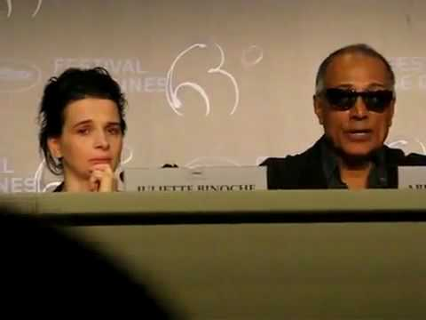 Juliette Binoche in tears over Iranian filmmaker Jafar Panah