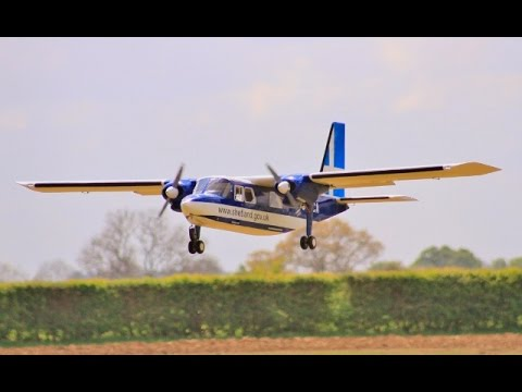 BRITTEN NORMAN BN-2 ISLANDER GIANT 28% SCALE 14 ft W/SPAN - LMA RC MODEL SHOW AT EAST KIRKBY - 2017
