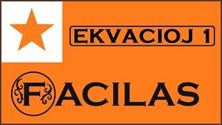 EKVACIOJ 1 (ESPERANTO)