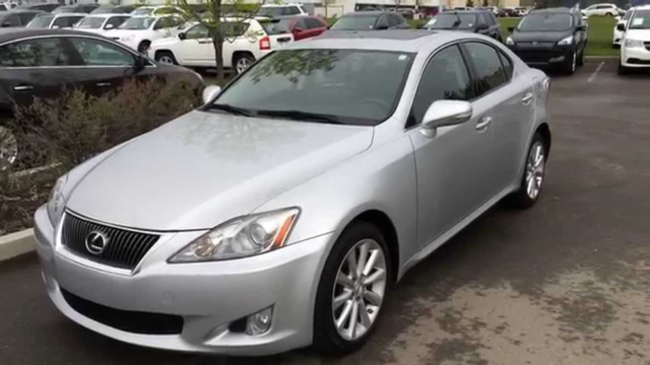 lexus certified pre owned silver 2010 is 250 awd camrose. Black Bedroom Furniture Sets. Home Design Ideas