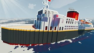 SINKING OCEAN LINER SURVIVAL! - Stormworks Multiplayer Gameplay - Sinking Ship Survival