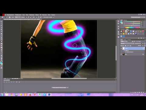 Как сделать неоновую кисть в фотошопе