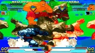 """[TAS] Zangief/Hulk VS """"Mech-Zangief""""/Orange Hulk (Marvel vs Capcom: Clash of Super Heroes)"""