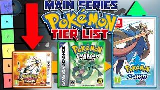 The Main Series Pokémon Game Tier List