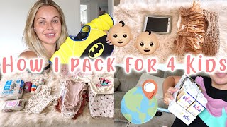 PACKING FOR KIDS/BABIES | HOW I PACK FOR 4 KIDS | TRAVELLING WITH KIDS | Lucy Jessica Carter