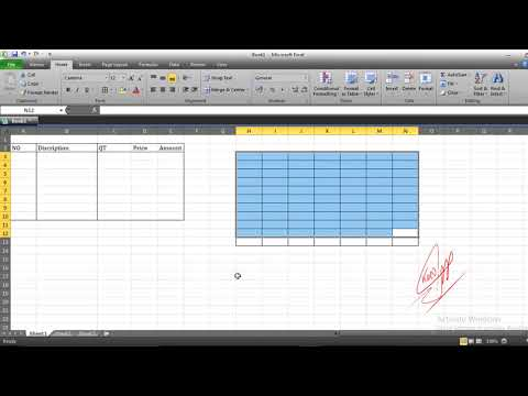 how to Create Receive in Microsoft Excel basic part 1