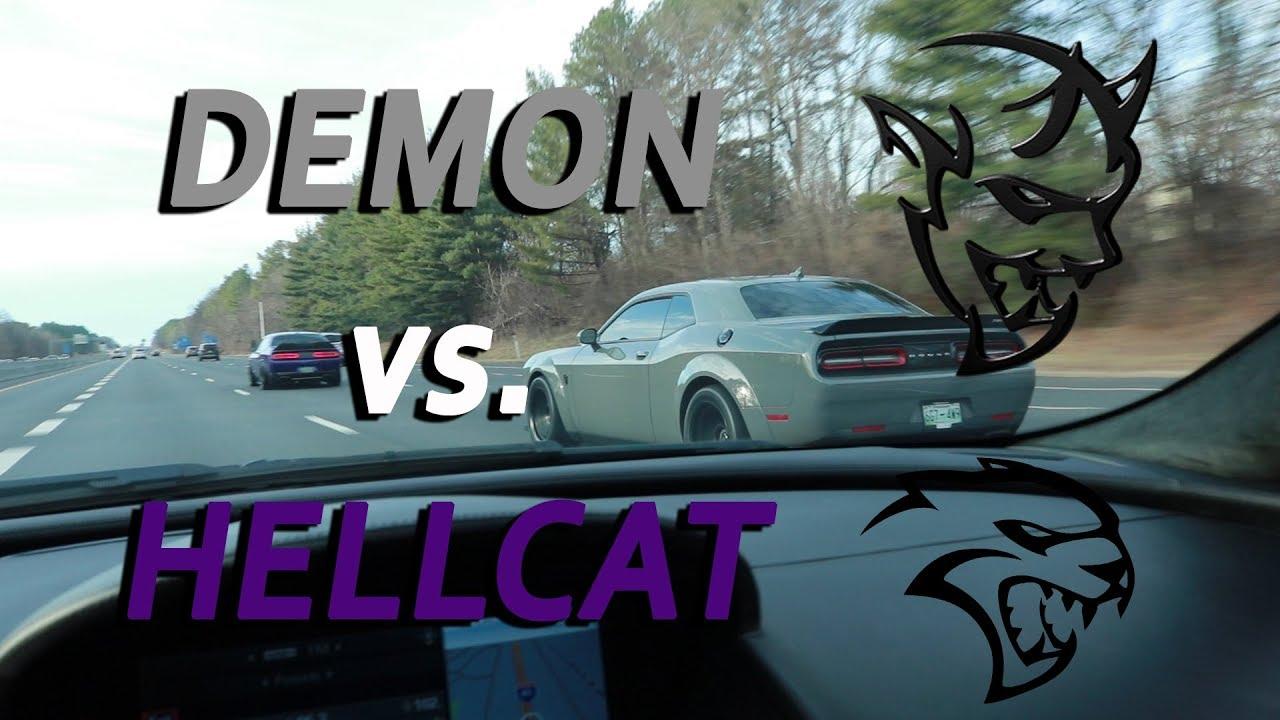 dodge demon vs hellcat vlog 5 youtube. Black Bedroom Furniture Sets. Home Design Ideas