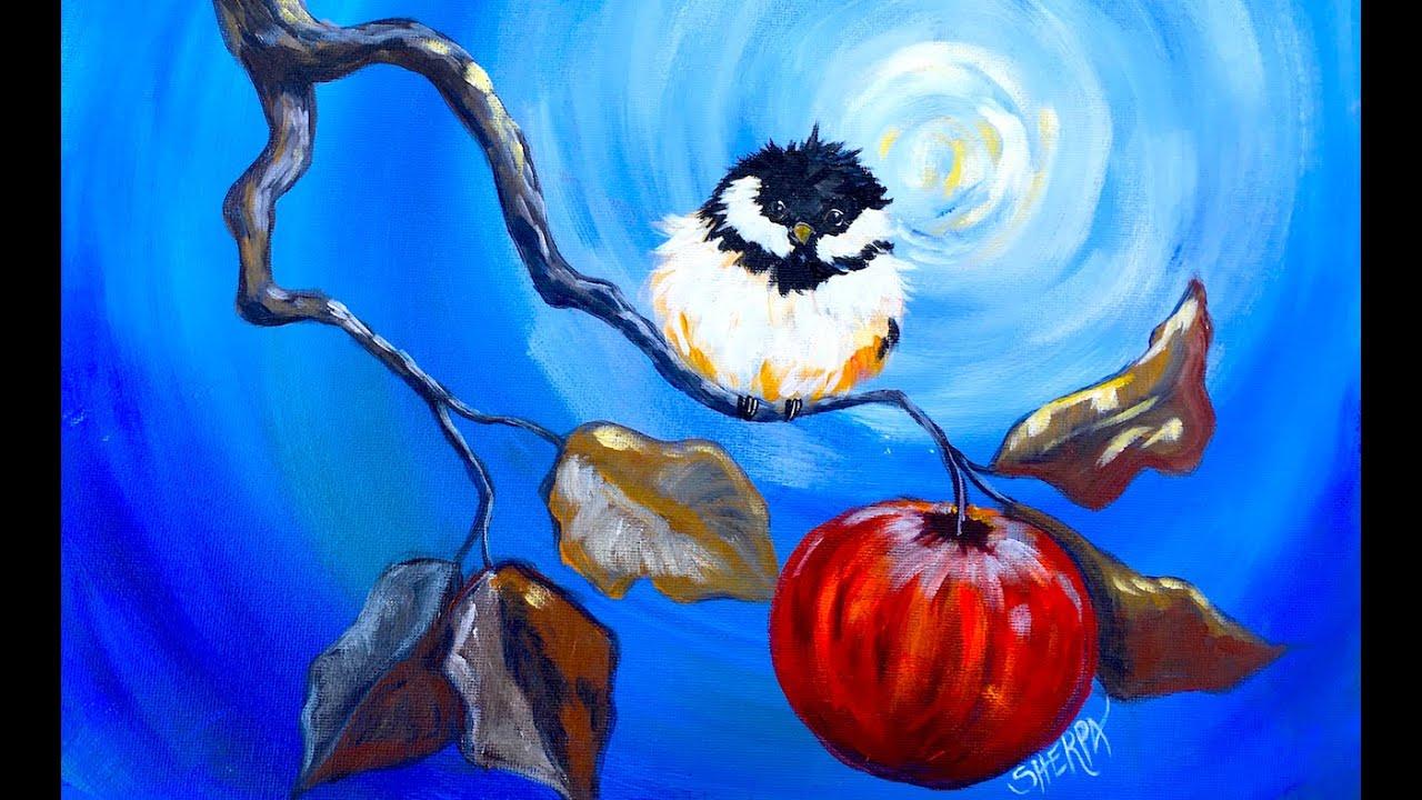 Acrylic Bird Painting Tutorial