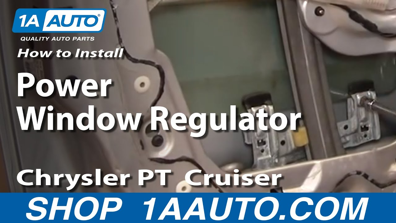 hight resolution of how to replace window regulator 01 05 chrysler pt cruiser