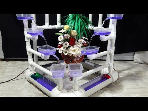 Made Water Fall Showpiece With PVC Pipe Amazing Life Hack