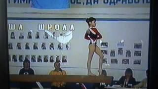 Алия Мустафина (10 лет). Бревно. Олимпийские надежды г.Тольятти 2004.