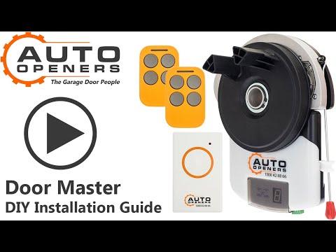 How To Install A DOOR MASTER Auto Openers Garage Door Opener Installation Video