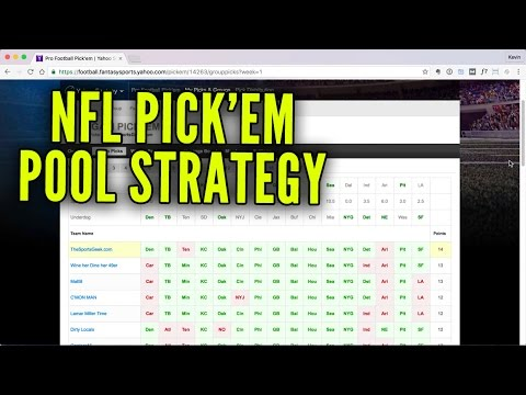 NFL Pick'em Pool Strategy - How To Win
