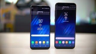 Samsung Galaxy S8 Vs S8+ مقارنة بين أجهزة