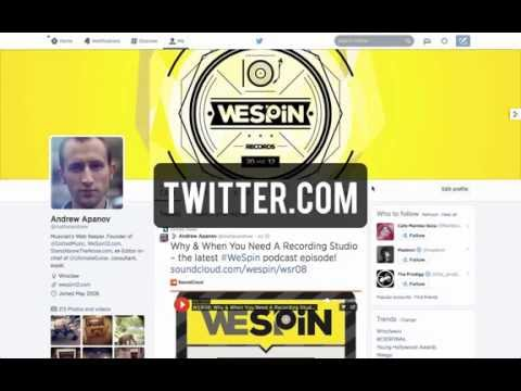 How to set up a music Twitter profile