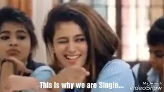This is why some of them are Singles...Oru aadar love fame Priya vaariyar proposal to Vickyroid