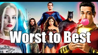 DCEU Movies Ranked From Worst To Best