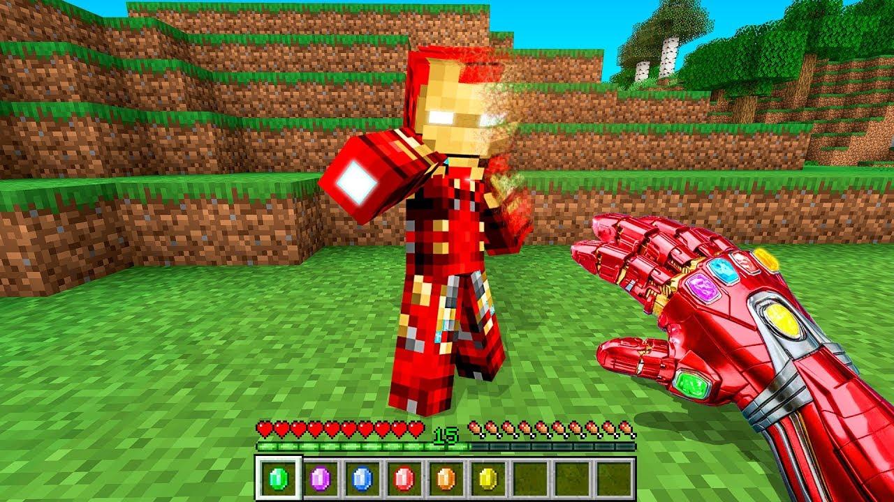 Minecraft Como Tener El Guantelete Del Infinito De Iron Man Que Funciona De Verdad Sin Mods Youtube