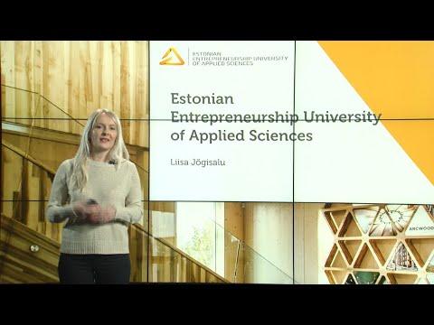 "Presentation: ""Estonian Entrepreneurship University of Applied Sciences"""