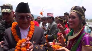 Welcoming Chancellor Prime Minister Rt Honourable KP Sharma Oli at Mid Western University