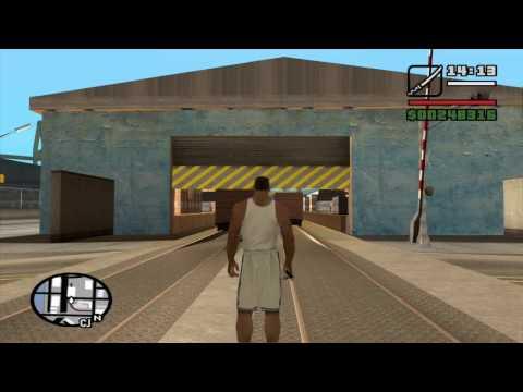 GTA SA Getting Sawn-Off Shotgun in Ocean Docks without a vehicle